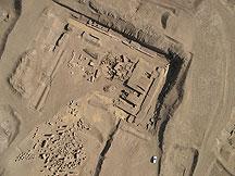 Tanis, vue verticale à haute altitude du fond du temple d'Amon